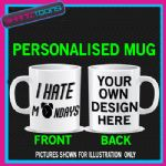 I HATE MONDAYS COOL FUNNY OFFICE COFFEE MUG GIFT